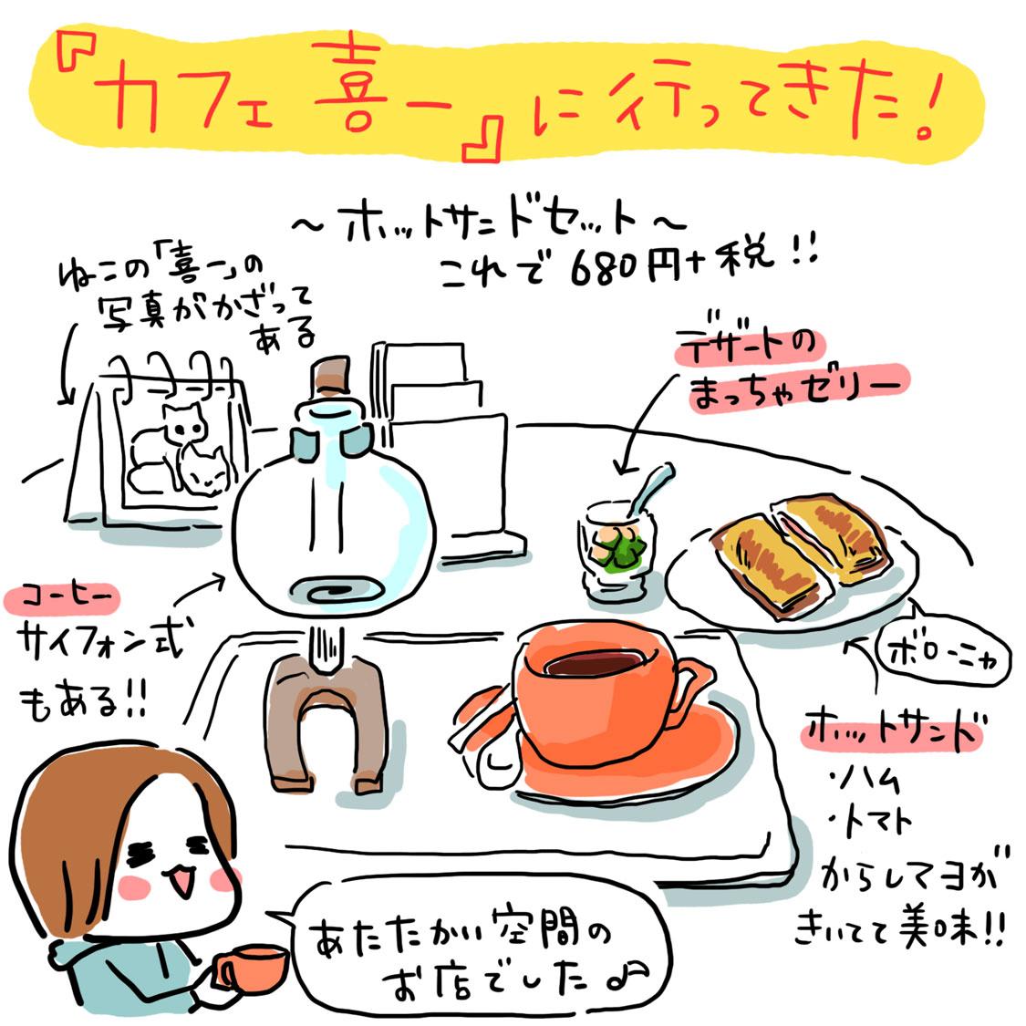 談笑カフェ喜一・ホットサンドセット