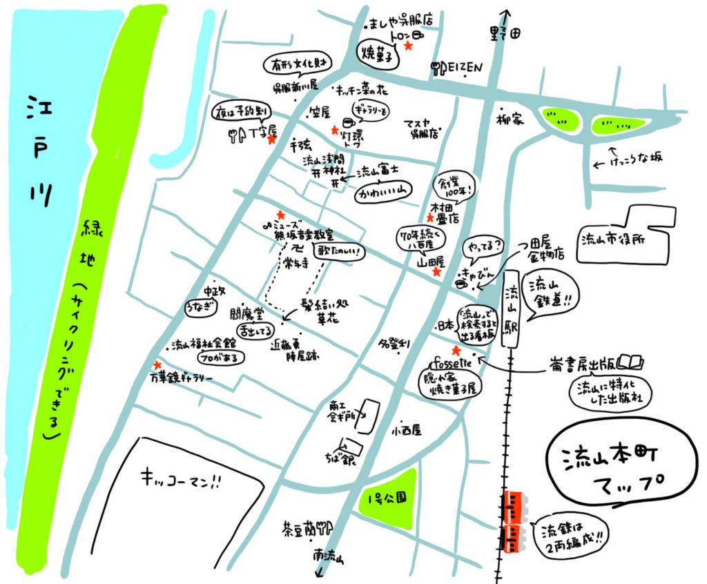 流山本町マップ