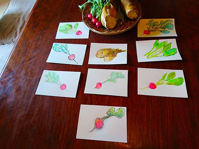 筆が進みまくった野菜イラスト