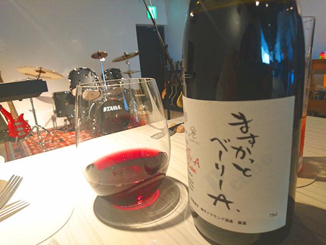 日本産のワインも豊富